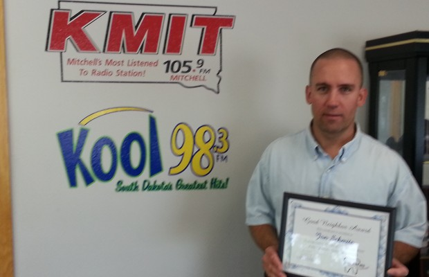 Congratulations Jon Schmitz of Mitchell