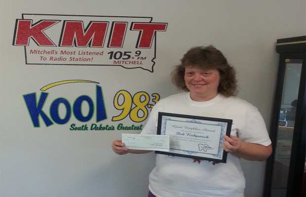 Congratulations to Deb Kirkpatrick of Mitchell