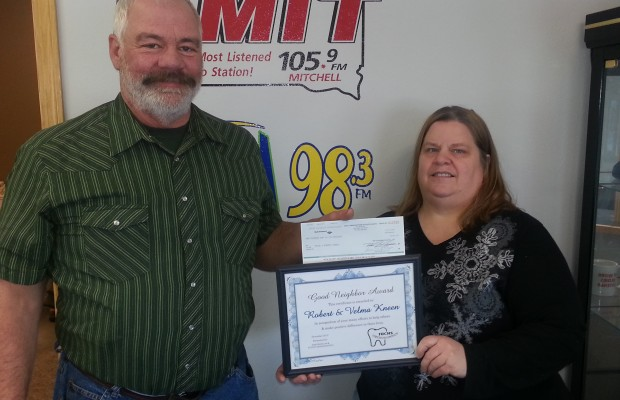 Congratulations to Velma and Robert Kneen of Forestburg